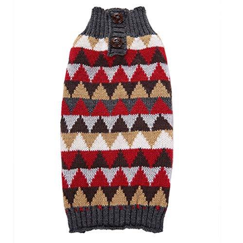 LovelyPet Pet Clothes Check Herbst und Winter Haustierhundekleidung Teddy Golden Hair Big Dog Pet Sweater (Size : XXS) -
