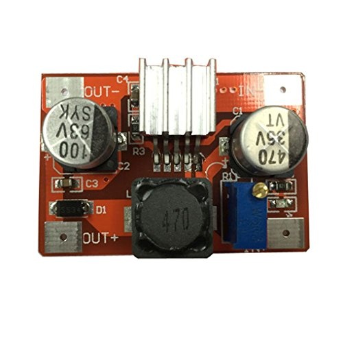 Lorsoul DC-DC-Booster-Modul Einstellbare 5V bis 12V 5V 12V bis 24V Regulator, Step-up-Boost-Power Converter LM2577 -