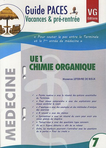 UE1 Chimie Organique