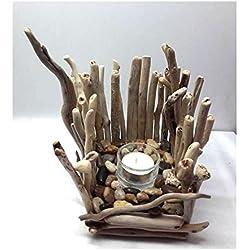 Lily Creation-Portavelas de madera (