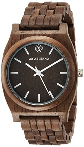 AB AETERNO Armbanduhr analog Quarzwerk Holzband 76900094