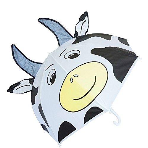 Regen Modeschmuck (Kiddi Wahl 3D Popup Milch Kuh Cute Regenschirm,)