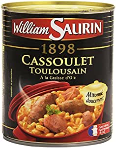 William Saurin Cassoulet Toulousain à la graisse d'oie 840g