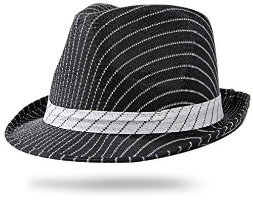 Gangster Nadelstreifen (Mafia Gangster Hut Schwarz Nadelstreifen)