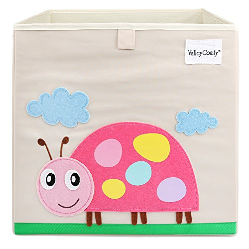 Valleycomfy Aufbewahrungsbox Spielzeugkiste Faltbar Cartoon Cube Organizer Closet Korb 33 x 33 x 33 cm, Beatles