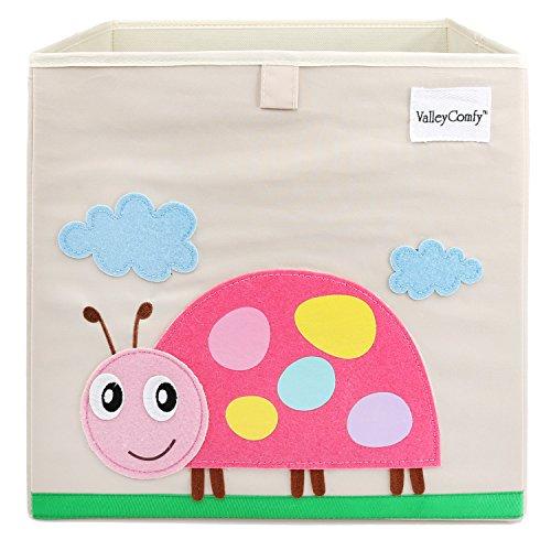 *Valleycomfy Aufbewahrungsbox Spielzeugkiste Faltbar Cartoon Cube Organizer Closet Korb 33 x 33 x 33 cm, Beatles*
