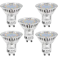 LE GU10 LED Lampe, 3W 250 Lumen LED Leuchtmittel, 2700 Kelvin Warmweiß ersetzt 35W Halogenlampen, 5er Pack