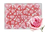 Box of 24 oil bath pearls - hearth shaped - fragrance rose