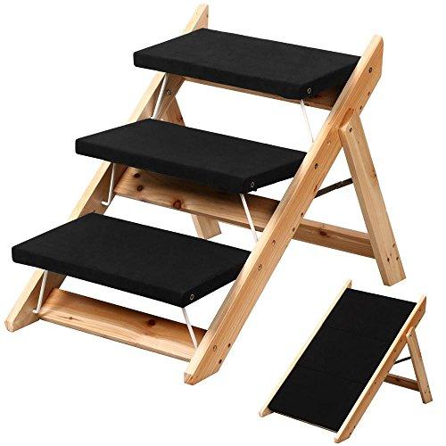 Tinkertonk Portable 2 In 1 Pet Folding Dog Cat Step Stairs Ladder Ramp,3  Steps
