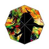 Flipped Summer Y Gespiegelt Sommer Y Frauen Farbe Pop Musik Individuelle Art Prints Regenschirm