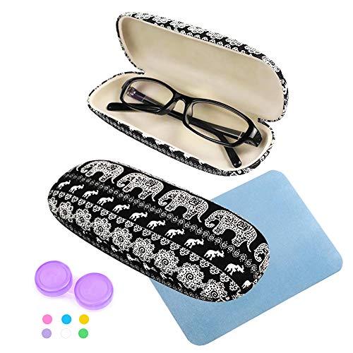 Brillen-Fall, Brillen-Aufbewahrungs-Schutzbrillen-Fall mit hübschem Elefant-Drucken(1)