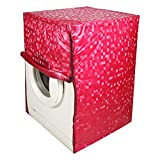 #3: Kuber Industries™ Front Load Fully Automatic Washing Machine Cover In Square Design Pink Color (Suitable For 6 kg, 6.5 kg, 7 kg, 7.5 kg) (WMCF07)