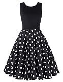 damenkleider festlich rockabilly kleid polka dots kleid casual petticoat kleid hochzeitskleid knielang S CL0463-3
