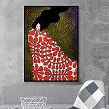 NIMCG Carattere di Arte Astratta Personaggio colorato Tela Poster Stampa Foto Art Deco per Soggiorno Camera da Letto (Senza Cornice) A4 20x30 cm