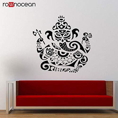Modernes Design Yoga Elefanten wandaufkleber Vinyl Kunst wohnkultur Zimmer abnehmbare Mural Ornament Indian Buddha Decals 59x57 cm