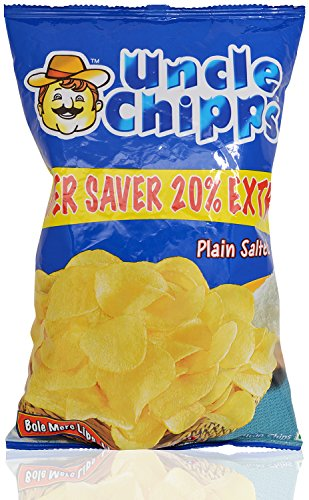 Uncle Chips Snacks - Plain Salted, 50g+10g Pack