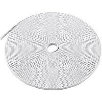 GT2 10 Metros de 6 mm Ancho de sincronización de 2 mm paso de la correa para el accesorio de la impresora 3D, blancos