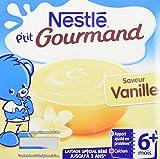 Nestlé Bébé P'tit Gourmand Saveur Vanille - Laitage dès 6 mois - 4x100G - Lot de 6
