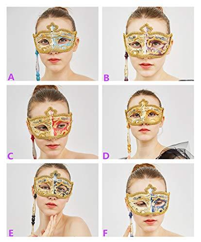 YU FENG 2pcs Venedig Venezianische Augenmaske Gelegentliche Anlieferung - Maskerade-Maske auf Einem Stock für Frauen