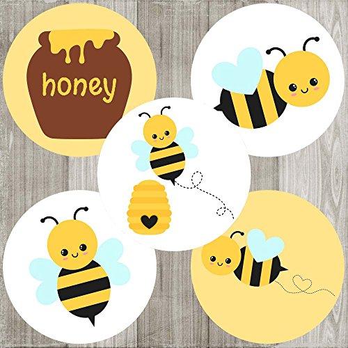 Adorebynat Party Decorations - EU Bumble Bee Aufkleber-Aufkleber - Jungen-Mädchen-Kind-Kind-Geburtstag oder Babyparty-Partei-Bevorzugungen - Satz von 50
