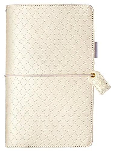 Webster 's páginas más grandes Tamaño planificador personal organizador 6, color blanco diamante
