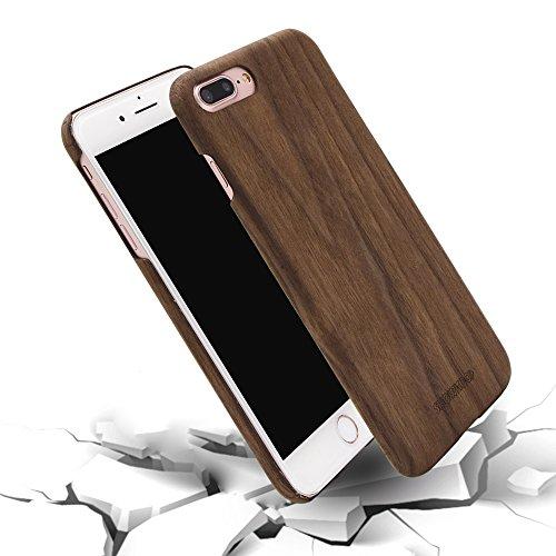 Funda iPhone 7 Plus, Funda iPhone 8 Plus Plus Carcasa, SHOWKOO Madera...