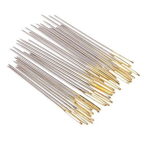 MagiDeal 30 Unids Pines Bordado A Mano Ojo Grande Tamaño 22 24 26 Punto de Cruz Costura Sastre