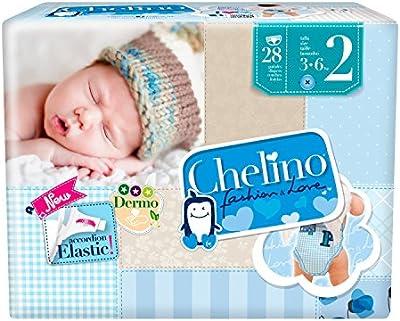 Chelino - Pañales talla 2 (3 28 Pañales - Pack de 6 (Total 168 Pañales)
