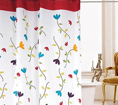 Beddingleer 120cm x 200cm flora design tessuto ad asciugatura rapida per tenda da doccia impermeabile resistente alla muffa Stripe tenda doccia Liner con ganci
