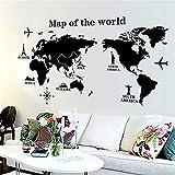 Carte Du Monde Stickers Muraux Carte De Pvc Amovible Du Monde Sur Le Stickers Muraux Art Stickers...