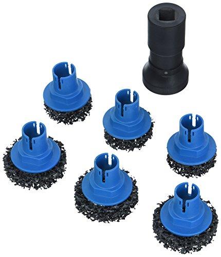 HAZET 4962-45/7 Radnabenschleifer-Satz PKW (für die Reinigung von Radnaben und Bremsscheiben, mit Sechskantaufnahme, 7  Einzelteile)