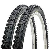 Paar Fincci MTB Mountainbike Fahrrad Reifen 26 x 1.95 54-559