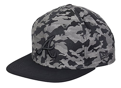 New Era Camo Snap 9Fifty Snapback Atlanta Braves Camo Grau, Size:M/L - Atlanta Braves-snap