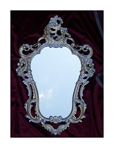 Shabby Chic Gold-Silber Dulacolor Wandspiegel Spiegel Barock Antik 50X76 Wanddeko