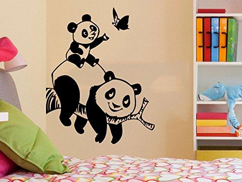 Oso Panda pared adhesivos animales vinilo adhesivo sala de estar decoración bebé niños decoración...