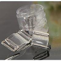 5pares de mujer chica 1,5cm ancho silicona sujetador Invisible correa ajustable para BH tirante, transparente