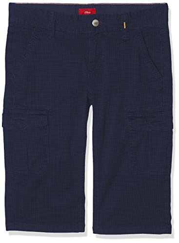 s.Oliver Jungen Shorts 61.804.76.4967, Blau (Blue Multicolored Stripes 58s5), 170 (Herstellergröße: 170/SLIM) (Pant Slim Stripe)