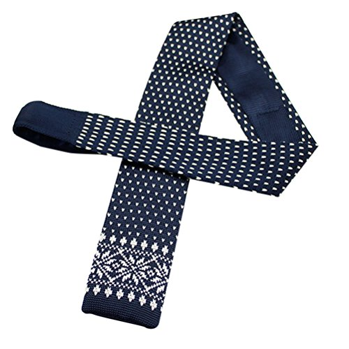 Zhhlinyuan Corbata Hombre roja blanca Multicolores Moda Clasica Knit Ties Narrow Flat Necktie for Men for Husband - Graduation Gift Multi Patterned Elastic Anti-Wrinkle