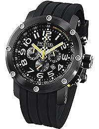 TW Steel Unisex-Armbanduhr Chronograph Gummi Schwarz TW610