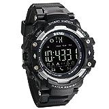 JewelryWe Intelligent Orologio Sportivo Smart Watch Bluetooth Promemoria di Chiamata Pedometro, Telecomando Macchina Fotografica, Monitoraggio Calorie, 5ATM Impermeabili Orologio da Uomo Donna