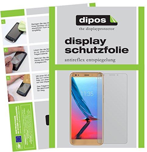 dipos I 2X Schutzfolie matt passend für ZTE Blade V9 Folie Displayschutzfolie