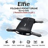 Lacaca H37 Altitudine Attesa w / HD Della Macchina Fotografica WIFI FPV RC Quadcopter Selfie Pieghevole Con 0.3MP Fotocamera Drone (Nero)