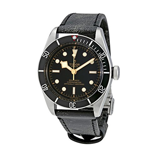 Tudor Heritage Bay schwarz Leder Automatische Herren Armbanduhr 79230N-bkls