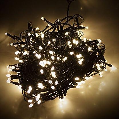 Led-Lichterkette-180er-warmweies-Licht-grnes-Kabel-fr-aussen