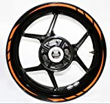 Rapid Outer Rim Aufkleber Stripe for Kawasaki Z1000 2014 Reflective Orange