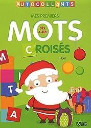 Mes Premiers Mots Croisés en Autocollants : Noël - Dès 4 ans