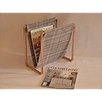 Magazine rack copper designed and created by Artisan Craftworks