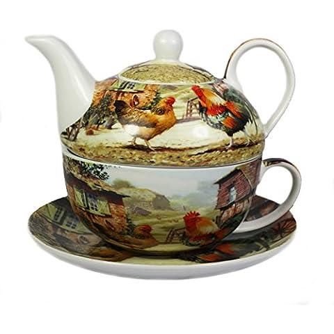 Gallo e gallina porcellana Tea for one Set