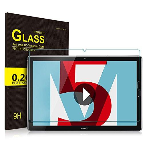 ELTD Panzerglas Schutzfolie für Huawei MediaPad M5 10.8,Ro&ed Corners 2.5D, 9H Härte, gehärtetes Glas Bildschirm Schutzfolie für Huawei MediaPad M5 10.8 Pro / M5 10.8 Zoll 2018 [1 Stück]