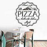 Wandaufkleber Pizza Klassische Rezept Wandaufkleber